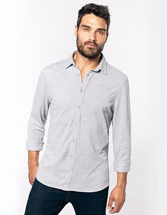 Langarmhemd aus Piqué
