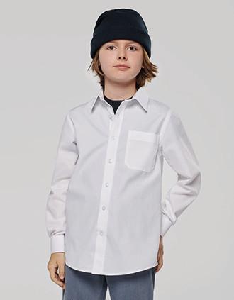 Kinder Popelin-Hemd Langarm
