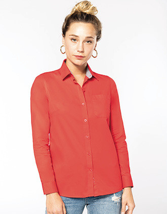 Langarm-Baumwollhemd für Damen