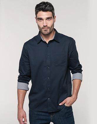 Langarm-Baumwollhemd Nevada für Herren