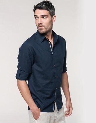 Langarm-Leinenhemd für Herren