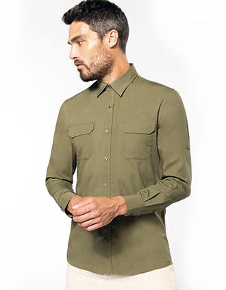 Langarm-Safarihemd