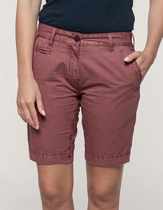 Bermuda-Shorts für Damen im ausgewaschenen Look