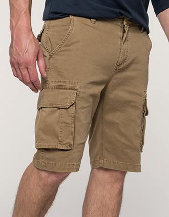 Bermuda-Shorts für Herren mit mehreren Taschen