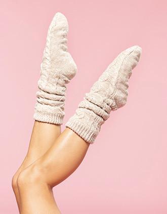 Lounge-Socke mit Sherpafutter