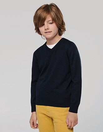 Kinder-Pullover mit V-Ausschnitt