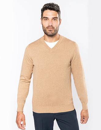 Premium-Pullover mit V-Ausschnitt