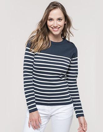 Damenpullover im Marine-Stil