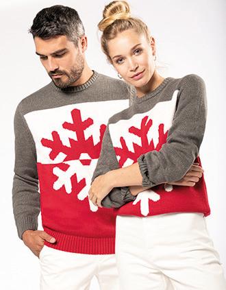 Pullover mit Flockenmotiv