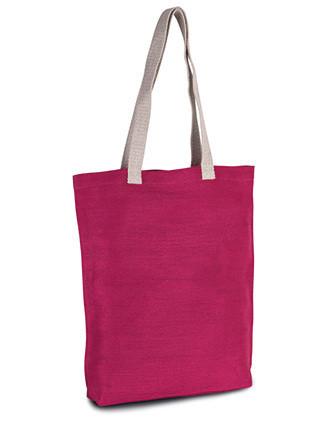Shoppingtasche aus Jute-Baumwollmischgewebe