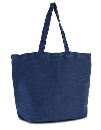 Große Jute-Baumwoll-Tasche mit Innenfutter
