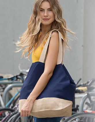Baumwolltuch-Jute-Shoppingtasche