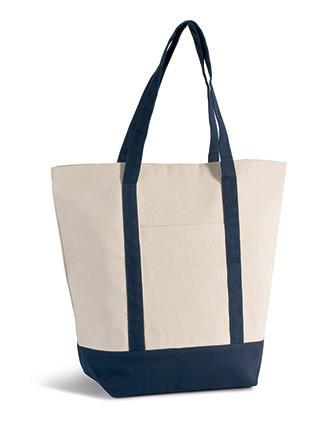 Geräumige Tasche im Marine-Stil