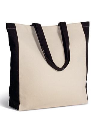 Zweifarbige Tasche im Cabas-Stil