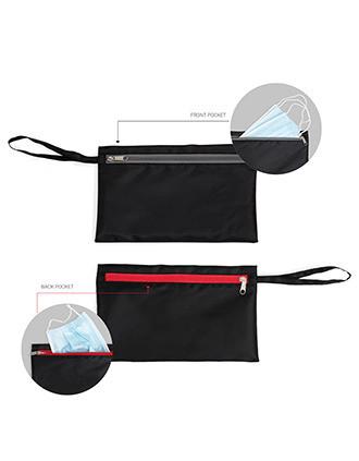 Kleine Tasche mit zwei Fächern zum Verstauen von Gesichtsmasken