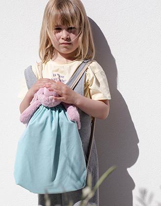 Kleiner recycelter Rucksack mit Kordelzugverschluss – Kindermodell