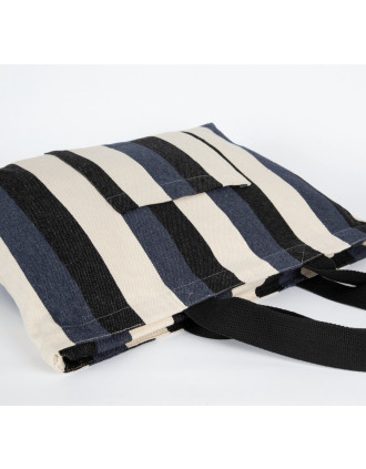 Recycelte Shoppingtasche – Streifenmuster