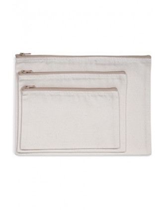 Recycelte kleine Tasche mit Reißverschluss