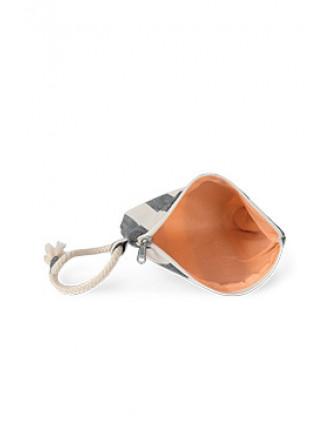 Recycelte kleine Tasche – Streifenmuster
