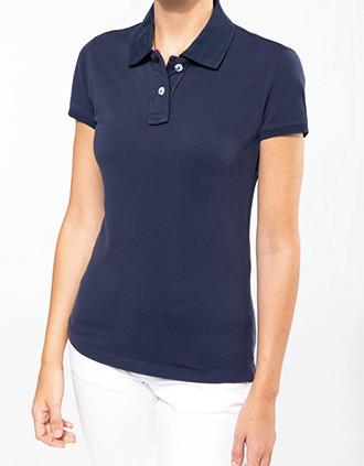 Damen Vintage Piqué Poloshirt