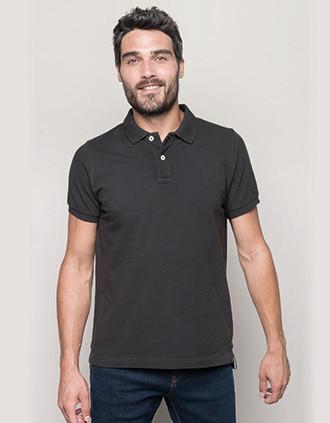Kurzarm-Polohemd für Herren im Vintage-Stil