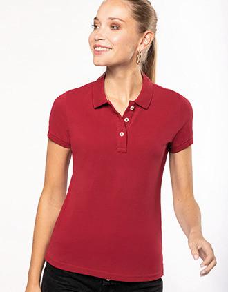 Kurzarm-Polohemd für Damen im Vintage-Stil