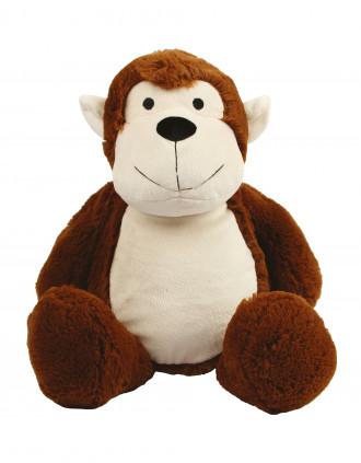 Plüschtier Affe mit Reißverschluss