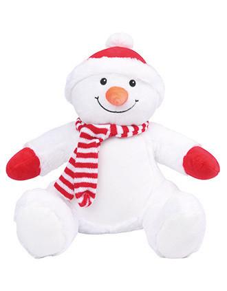 Plüschtier Schneemann mit Reißverschluss