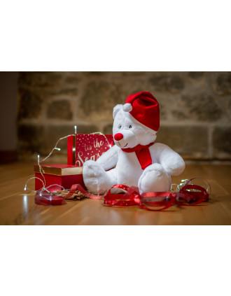Weihnachts-Plüschbär mit Reißverschluss