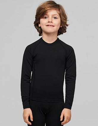 Kinder Langarm Doppelhaut T-Shirt. Schnelltrocknend