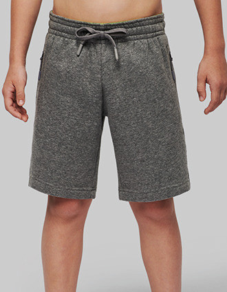 Multisport-Bermuda-Shorts aus Fleece für Kinder