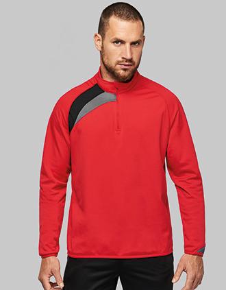 Trainings-Sweatshirt mit 1/4 Reißverschluss