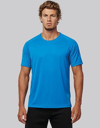 Herren-Sportshirt aus Recyclingmaterial mit Rundhalsausschnitt