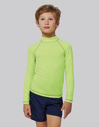 Kinder-Funktionsshirt mit langen Ärmeln und UV-Schutz