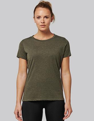 Damen-Triblend-Sportshirt mit Rundhalsausschnitt