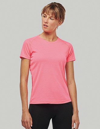 Damen Basic Sport Funktionsshirt Kurzarm