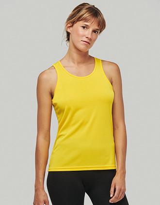 Damen Basic Sport Funktionsshirt ärmellos