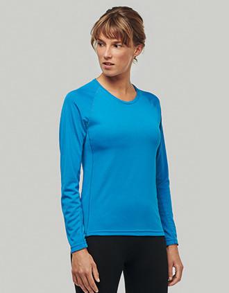 Damen Basic Sport Funktionsshirt Langarm