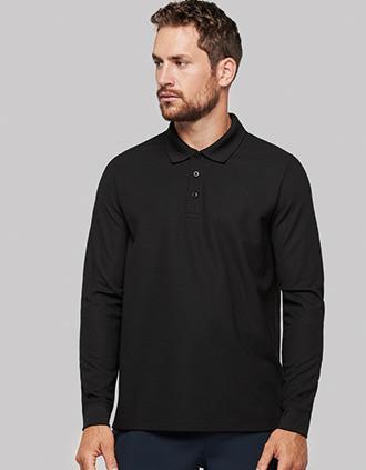 Langarm-Polohemd Cool Plus® für Erwachsene