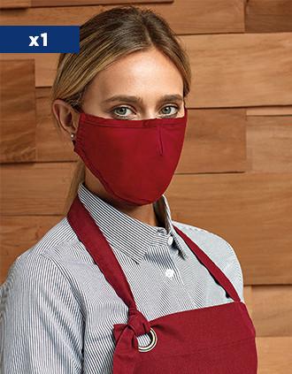 Wiederverwendbare, 3-lagige Maske - verstellbare Bänder - AFNOR UNS1