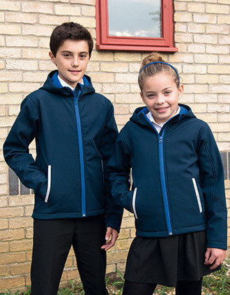 Kids Tx Performance Hooded Softshell Jacket