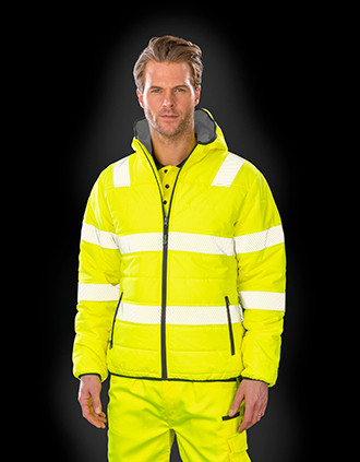 Sicherheitsjacke aus wattiertem, recyceltem Ripstop