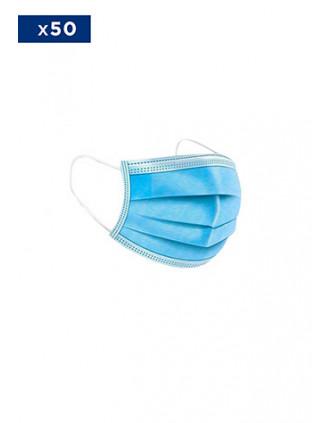 Einweg Mundschutzmaske - 3 Lagig - Verkauft per Packs von 50 Masken