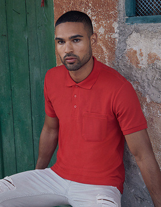 65/35 pocket polo shirt
