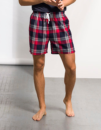 Shorts mit Tartanmuster