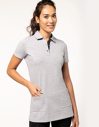 Langes Polohemd mit kurzen Ärmeln für Damen