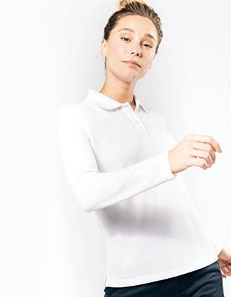 Langarm-Polohemd für Damen