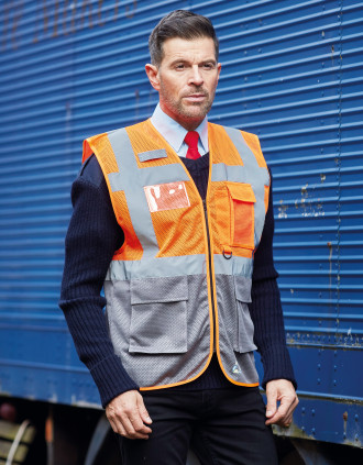 Top Cool - Hi-Vis mesh executive waistcoat