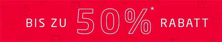 Bis zu 50% reduziert